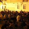 """Proyección de """"Blackthorn, sin destino"""" en la Plaza Xosé Tarrío (2012) Foto de José Eladio"""