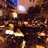 Proyección de The Artist en la la Plaza Xosé Tarrio (2012) foto de David López Escalera