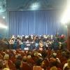 La banda sinfónica Tierra de Segovia en la inauguración