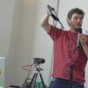 Diego presentando la cámara Elphel